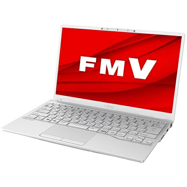 富士通FUJITSUノートパソコンLIFEBOOKUH75/E3シルバーホワイトFMVU75E3W[13.3型/AMDRyzen7/SSD:256GB/メモリ:8GB/2020年冬モデル]