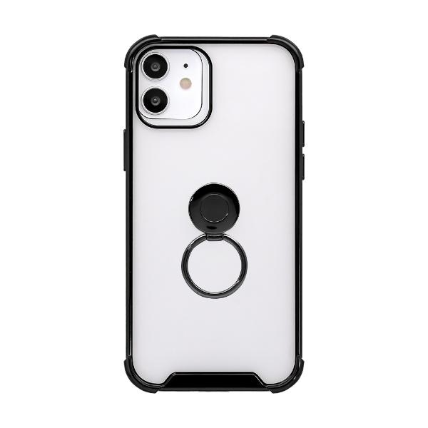 OWLTECHオウルテックiPhone12/12Pro6.1インチ対応リング付ハイブリッド耐衝撃ケース