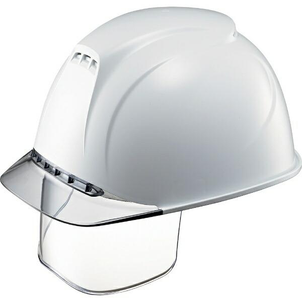 谷沢製作所TANIZAWASEISAKUSHOタニザワエアライト搭載ヘルメット(透明バイザータイプ・溝付・通気孔付・ワイドシールド付)透明バイザー:グレー/帽体色:白1830VJ-SE-V2-W1-J
