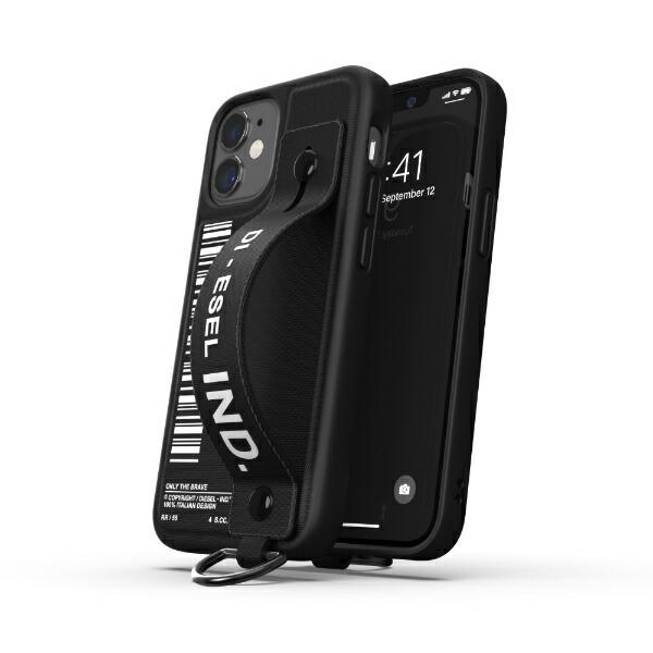 DIESELディーゼルiPhone12mini5.4インチ対応HandstrapCaseFW20ブラック42524