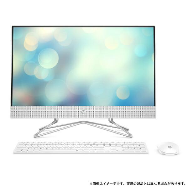 HPエイチピーデスクトップパソコンHPAll-in-One24-df0202jpピュアホワイト9EH12AA-AAAA[23.8型/intelCorei5/メモリ:8GB/HDD:2TB/SSD:256GB/2020年11月モデル][23.8インチ新品一体型windows10]