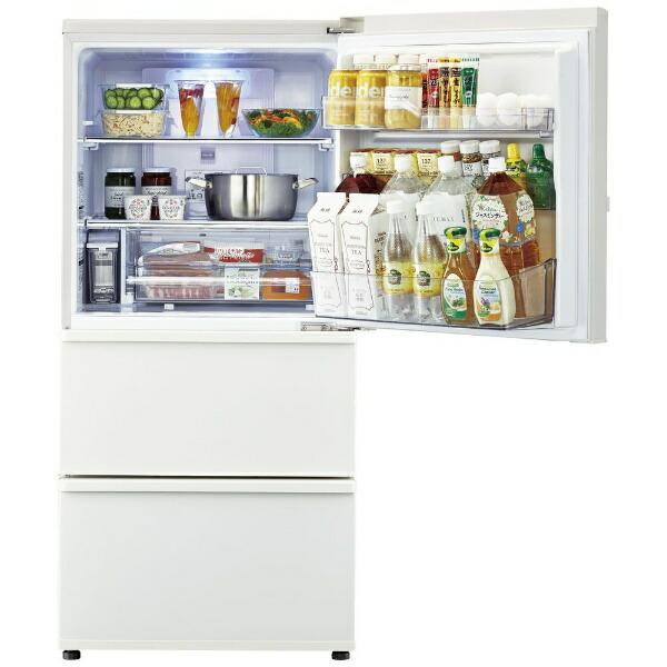 AQUAアクア《基本設置料金セット》冷蔵庫ミルクAQR-SV24K-W[3ドア/右開きタイプ/238L][冷蔵庫一人暮らし小型新生活]