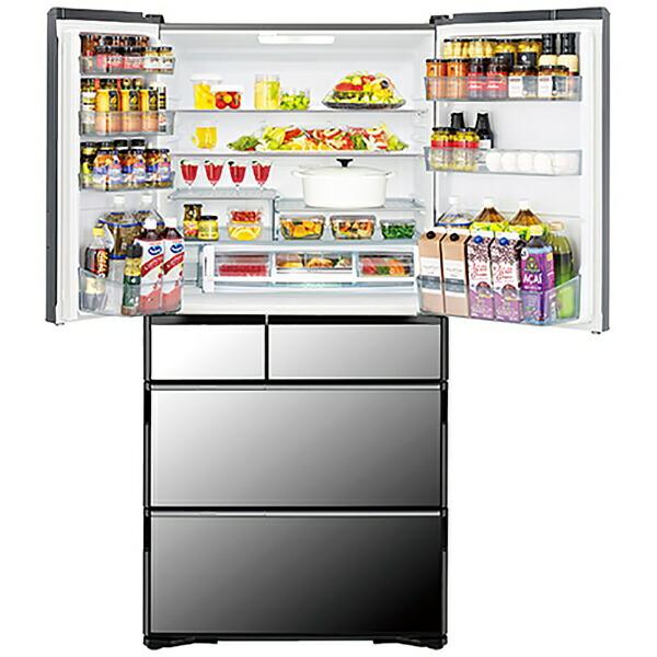 日立HITACHI《基本設置料金セット》冷蔵庫真空チルドVWCタイプクリスタルミラーR-WXC74N-X[6ドア/観音開きタイプ/735L]