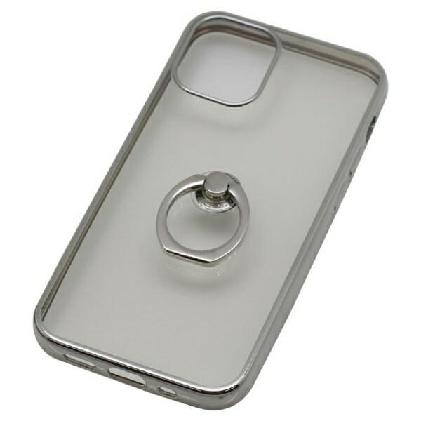 バウトBAUTiPhone12miniリング付ケースメタルフレームBJI2001SVシルバー