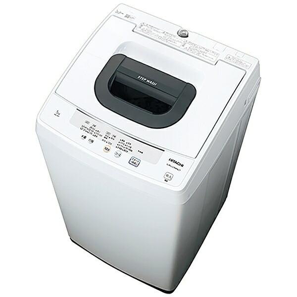 日立HITACHI全自動洗濯機ピュアホワイトNW-50F-W[洗濯5.0kg/乾燥機能無/上開き][洗濯機5kg]