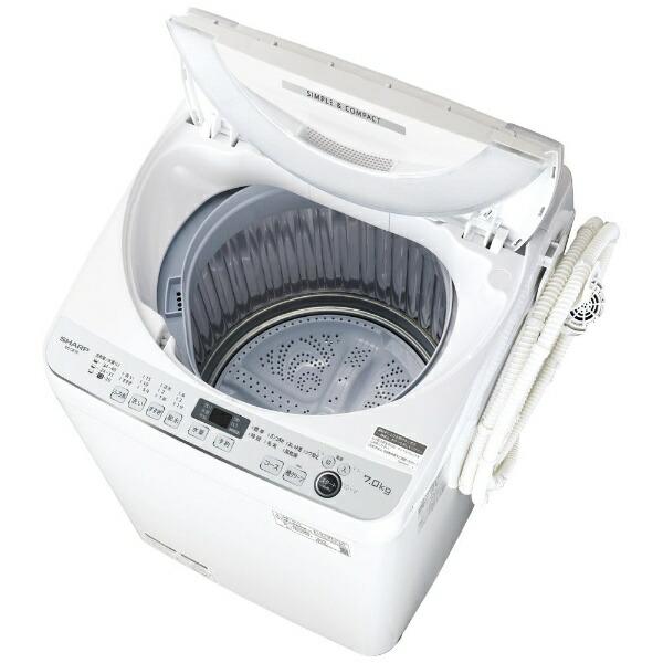 シャープSHARP全自動洗濯機ホワイト系ES-GE7E-W[洗濯7.0kg/乾燥機能無/上開き][洗濯機7kg]