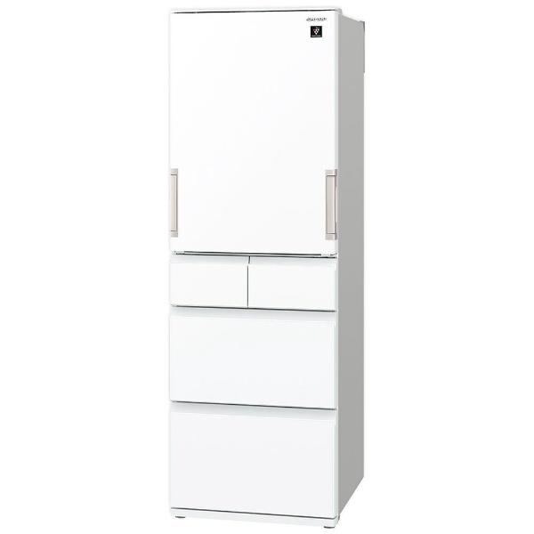シャープSHARP冷蔵庫ピュアホワイトSJ-G413G-W[5ドア/左右開きタイプ/412L]《基本設置料金セット》