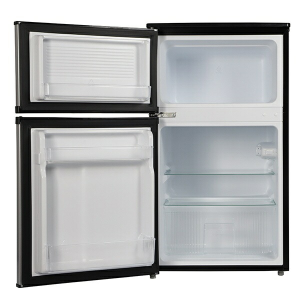 A-Stageエーステージ冷蔵庫シルバーBR-C90S[2ドア/右開きタイプ/90L][冷蔵庫一人暮らし小型新生活]