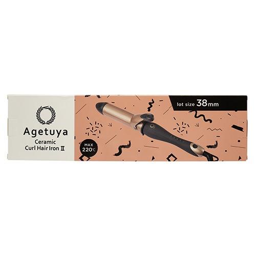AGETUYAアゲツヤセラミックカールアイロンAGETUYAアゲツヤゴールド系AG-0002-38[38mm]