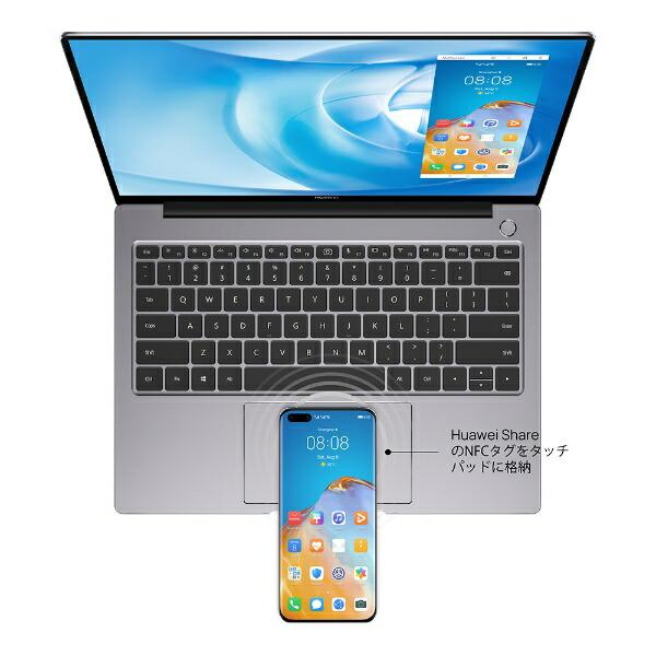 HUAWEIファーウェイノートパソコンMateBook14スペースグレーKELWFEHS5CNCWNUA[14.0型/AMDRyzen7/SSD:512GB/メモリ:16GB/2020年11月モデル]