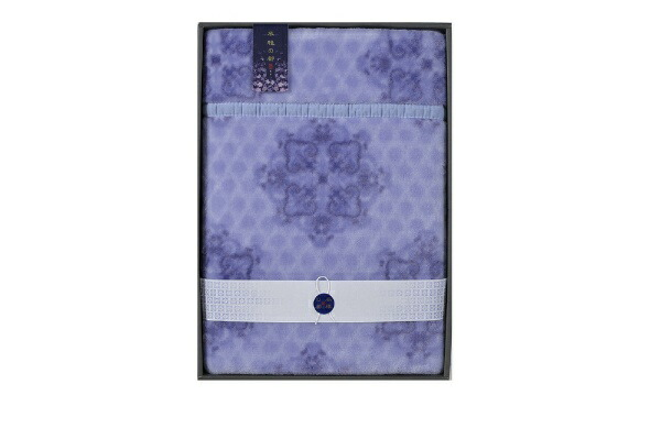 西川NISHIKAWA【風雅の都】衿付ニューマイヤー毛布ブルー(140×200cm)