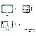 矢崎化工YAZAKIYAZAKIポリテナー105LブルーPT-110STB10