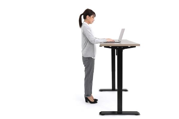 アイリスオーヤマIRISOHYAMA電動昇降テーブル[W120×D65×H72〜120cm]ブラックDST-1200