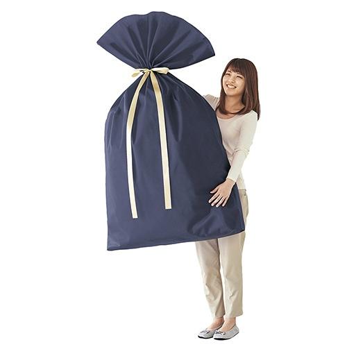 ササガワSASAGAWA巾着袋超BIGWネイビー50-3750
