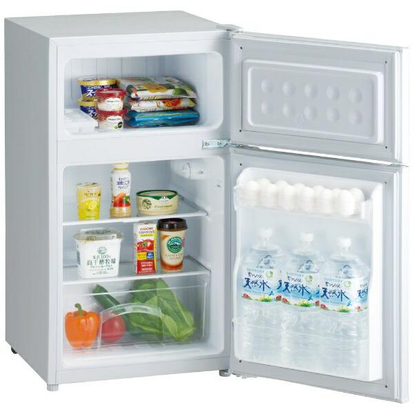 ORIGINALBASICオリジナルベーシック冷蔵庫ホワイトBR-85A-W[2ドア/右開きタイプ/85L][冷蔵庫一人暮らし小型新生活]