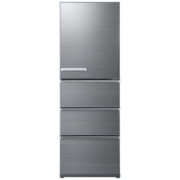 AQUAアクア冷蔵庫Delie(デリエ)シリーズチタニウムシルバーAQR-V43K-S[4ドア/右開きタイプ/430L]《基本設置料金セット》