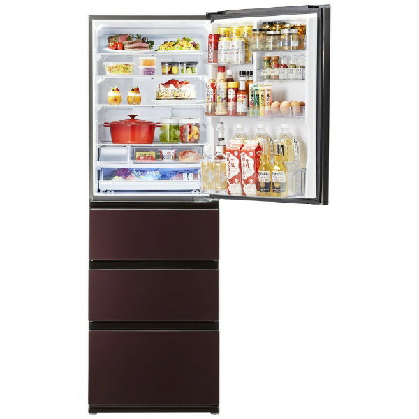 AQUAアクア冷蔵庫ダークウッドブラウンAQR-V46K-T[4ドア/右開きタイプ/458L]《基本設置料金セット》