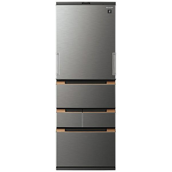 シャープSHARP冷蔵庫ダークメタルSJ-MW46H-H[5ドア/左右開きタイプ/457L]《基本設置料金セット》