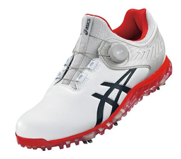 アシックスasics28.5cm男女兼用ゴルフシューズゲルエースプロ5ボアワイズ:3E相当(ホワイト×ピーコート)1111A180