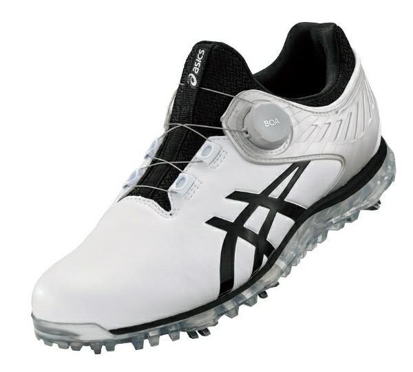 アシックスasics25.0cm男女兼用ゴルフシューズゲルエースプロ5ボアワイズ:3E相当(ホワイト×ブラック)1111A180