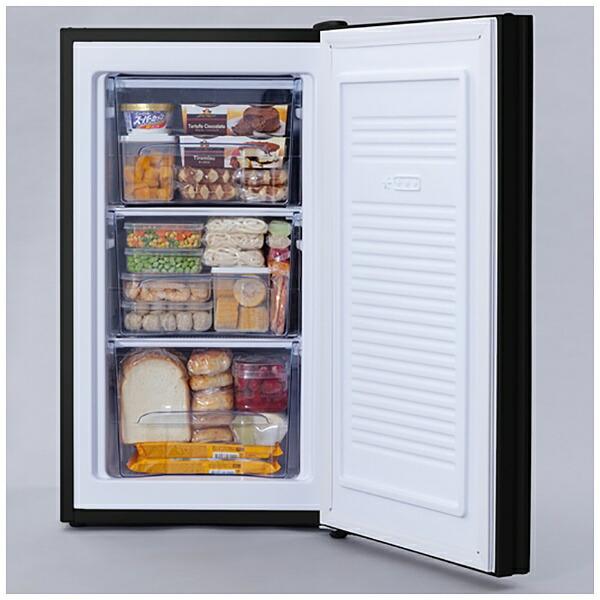 アイリスオーヤマIRISOHYAMA冷凍庫ブラックKUGD-6B-B[1ドア/右開きタイプ]