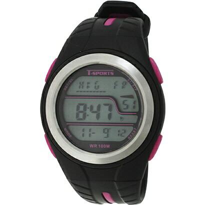 クレファーCREPHAデジタル腕時計ピンクTS-D2019-PK