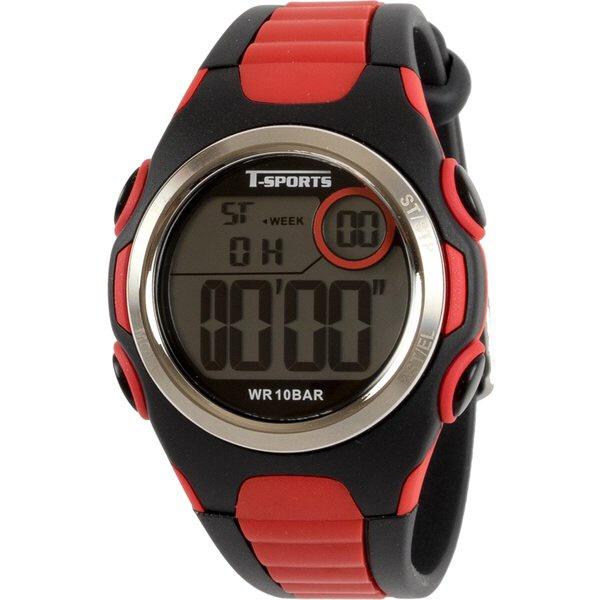 クレファーCREPHAデジタル腕時計レッドTS-D113-RD