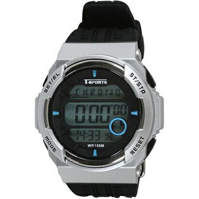 クレファーCREPHAデジタル腕時計シルバーTS-D2058-SV