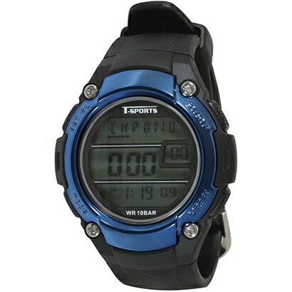 クレファーCREPHAデジタル腕時計ブルーTS-D2059-BL