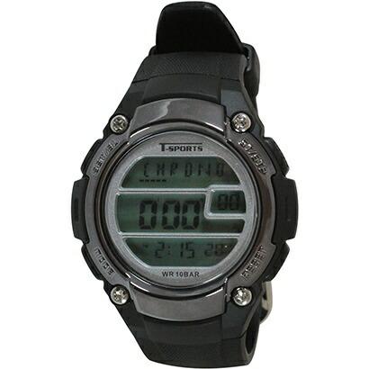 クレファーCREPHAデジタル腕時計ブラックTS-D2059-BK