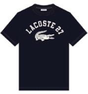 ラコステLACOSTEメンズカレッジロゴクルーネックTシャツ(004:Mサイズ/ダークブルー)TH0061L