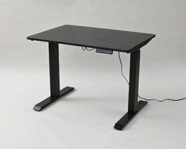 ヤマゼンYAMAZEN電動式昇降デスク(W1000xD700xH710〜1100mm)ブラックxブラックELD-FS(MBK)/T1000(BK)