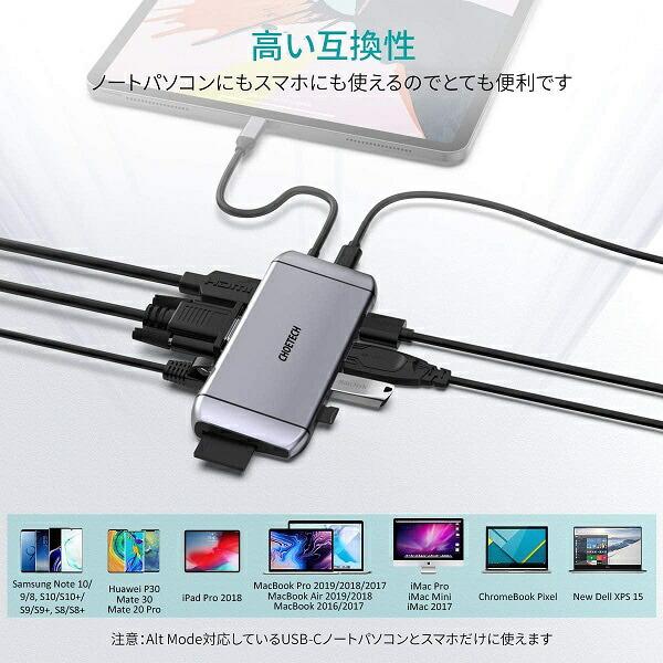 CHOETECHチョエテックHUB-M15-GYUSBハブCHOETECH[バスパワー/9ポート/USB3.0対応/USBPowerDelivery対応]