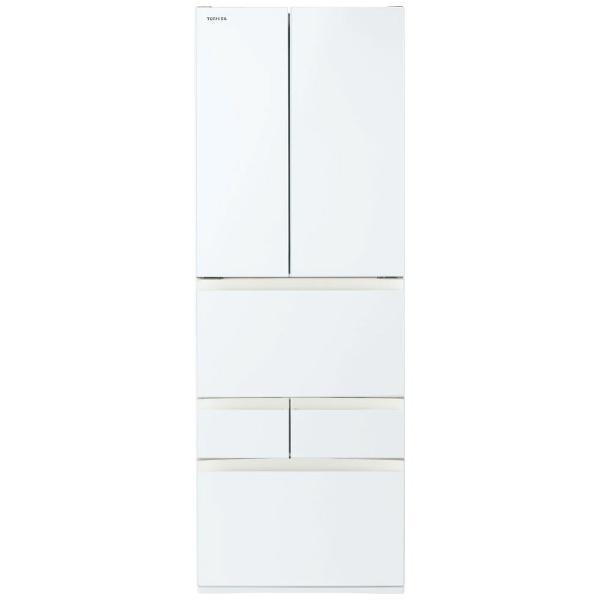 東芝TOSHIBA冷蔵庫FHシリーズグランホワイトGR-T510FH-EW[6ドア/観音開きタイプ/509L]《基本設置料金セット》