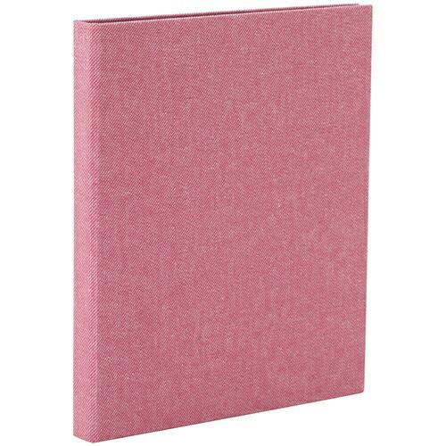ナカバヤシNakabayashiコットポケットアルバムハーフサイズプリント縦向き80枚ピンク