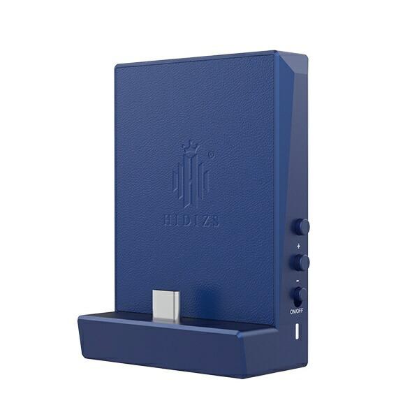 HIDIZSヒディスポータブルヘッドホンアンプブルーDH80Blue[DAC機能対応]