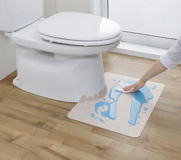 サンコーTHANKO吸着拭けるトイレマット無地ショートベージュKK-53
