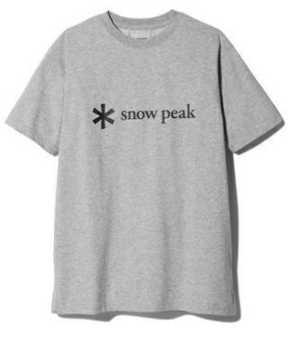 スノーピークsnowpeak男女兼用Tシャツ・カットソーPrintedLogoTshirtLM.GreySPS-TS-21SU00104MG