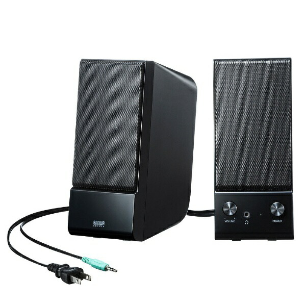 サンワサプライSANWASUPPLYMM-SPL14BKNPCスピーカー3.5mm接続ブラック[AC電源]