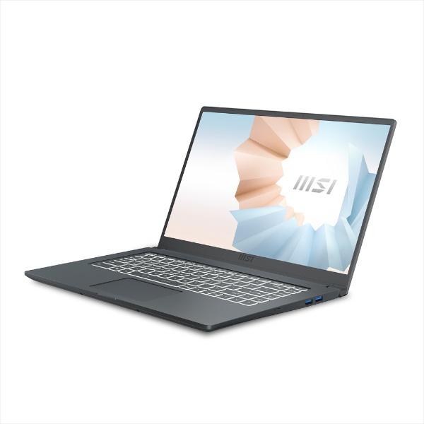 MSIエムエスアイノートパソコンModern15A5MカーボングレイModern-15-A5M-579JP[15.6型/AMDRyzen7/メモリ:16GB/SSD:512GB/2021年7月モデル]