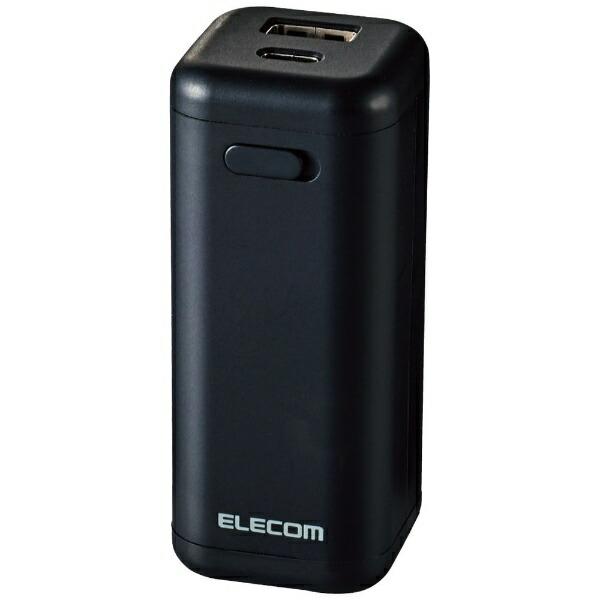 エレコムELECOMモバイルバッテリー/乾電池式/A-Cケーブル付属/単3電池4本付属DE-KD02BK