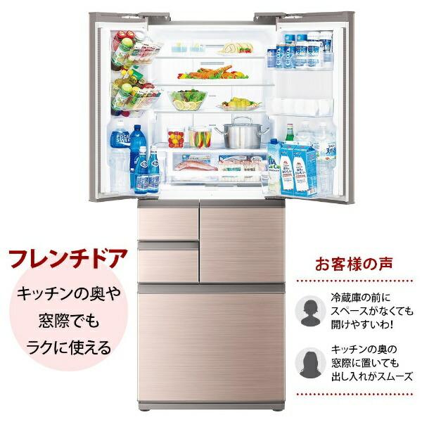 シャープSHARP冷蔵庫シャインブラウン系SJ-X504H-T[6ドア/観音開きタイプ/502L]《基本設置料金セット》【2111_rs】