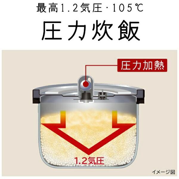 日立HITACHI炊飯器ふっくら御膳ブラウンメタリックRZ-G10EM-T[5.5合/圧力IH]【rb_cooking_cpn】【2111_cpn】