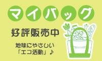 地球にやさしい「エコ活動」♪マイバッグ好評販売中!