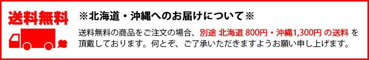 【送料無料】ただし、北海道・沖縄へのお届けの場合、北海道800円・沖縄県1,300円の送料を加算させていただいておりますのでご了承ください