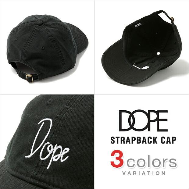 DOPE ドープ キャップ CAP 6パネル ローキャップ メンズ レディース SCRIPT スクリプト ロゴ ウォッシュ加工 LOW CROWN DAD