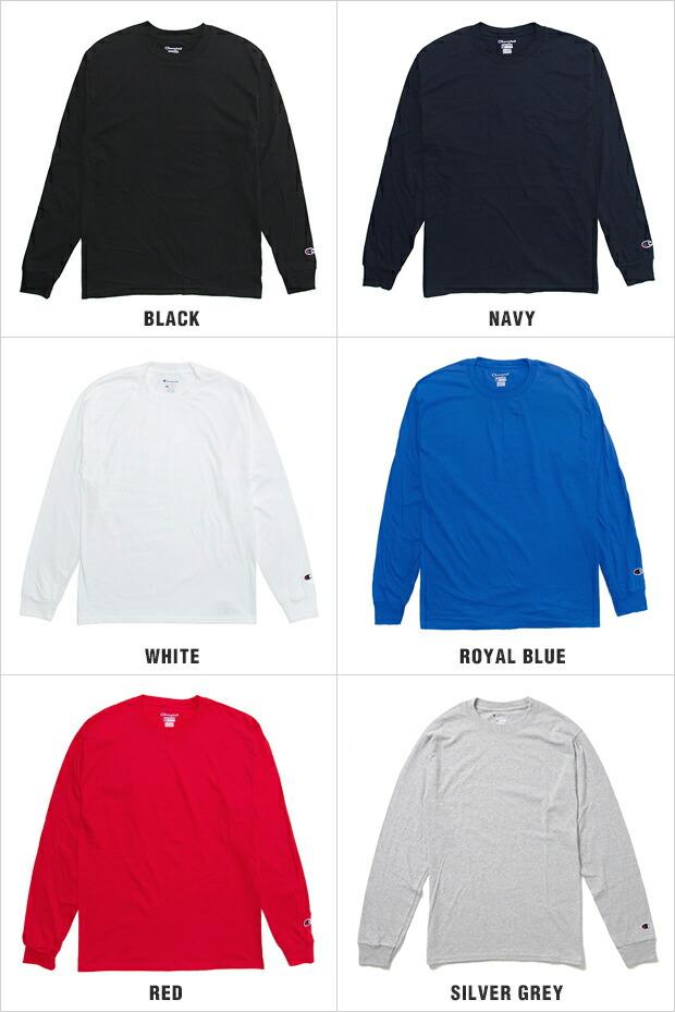 チャンピオン 長袖 Tシャツ CHAMPION T-SHIRTS メンズ 大きいサイズ USAモデル champion t-shirts 無地 ワンポイント ロゴ 長袖Tシャツ ロンT あす楽