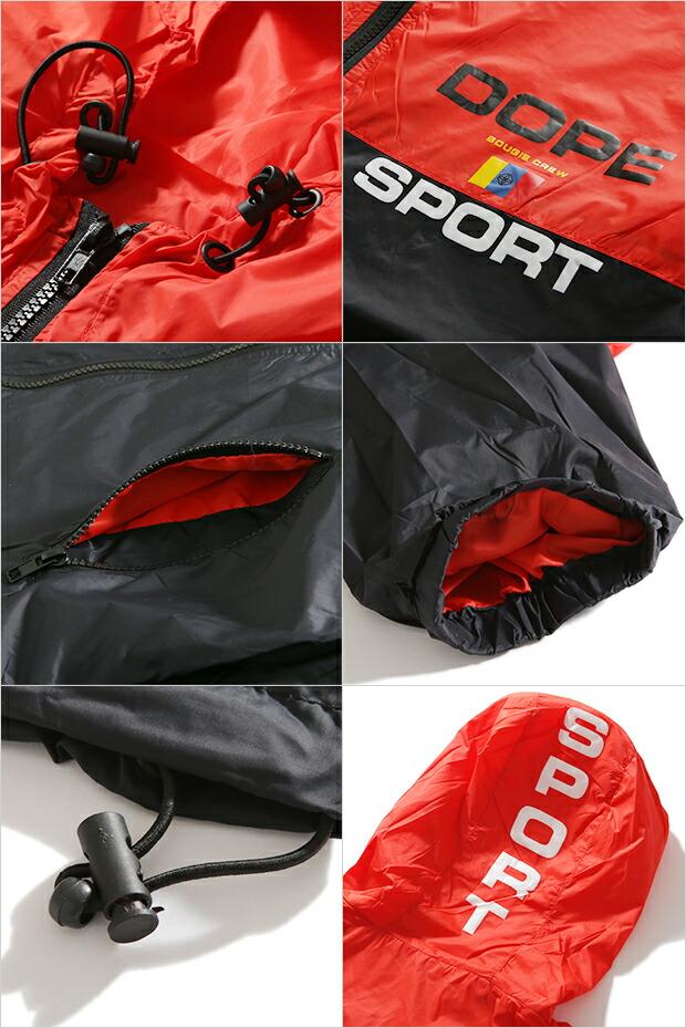 DOPE ドープ ナイロンジャケット ウインドブレーカー メンズ 大きいサイズ SUMMIT WINDBREAKER