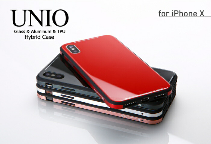 online retailer b9223 2a1f0 ☆◆ Case Glass & Aluminum & TPU Case UNIO for iPhone X DCS-IPXUNC for  exclusive use of Deff iPhoneX