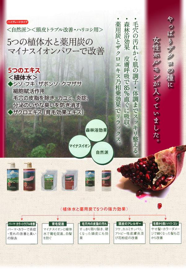 ザクロ精炭酸シャンプー800ml